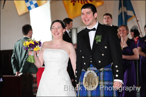 The Wedding ceremony at Castle Stuart Inverness in the Highlands