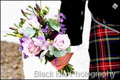 Wedding photograph of the flowers at Loch Carron in the Highlands