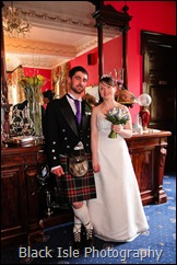 A Bride and Groom photograph at their wedding at the Ledgowan Lodge Hotel Highlands