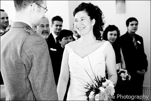 A wedding photograph of the wedding ceremony in the higlands