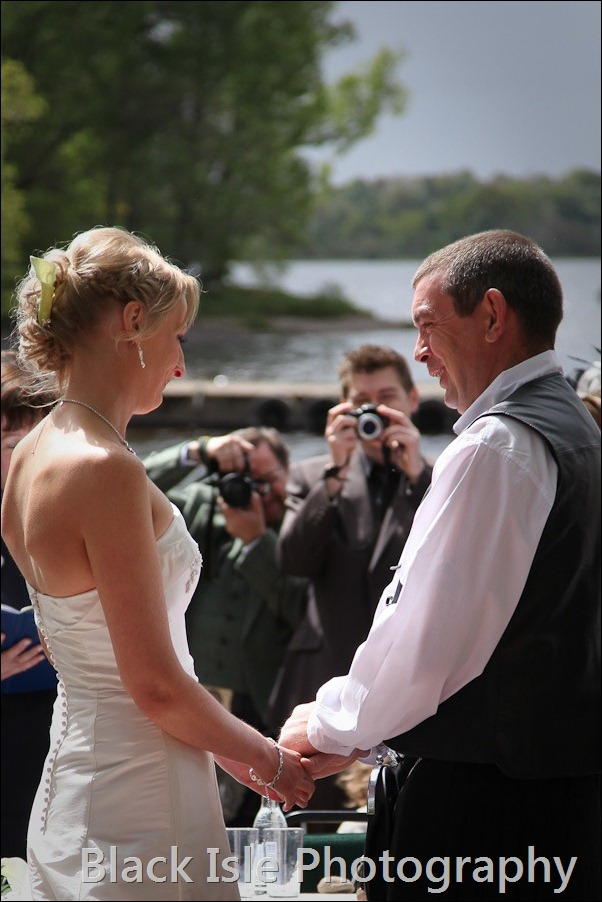 wedding photograph Loch Insh watersports Centre-15