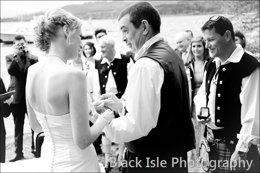 wedding photograph Loch Insh watersports Centre-16