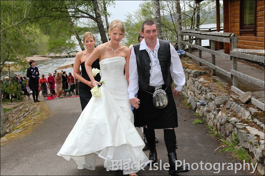 wedding photograph Loch Insh watersports Centre-19