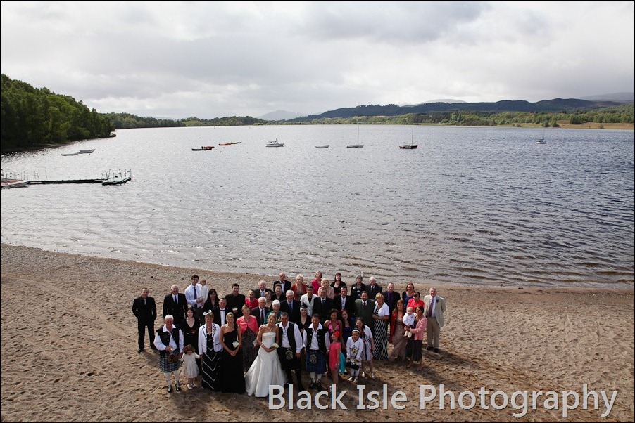 wedding photograph Loch Insh watersports Centre-21
