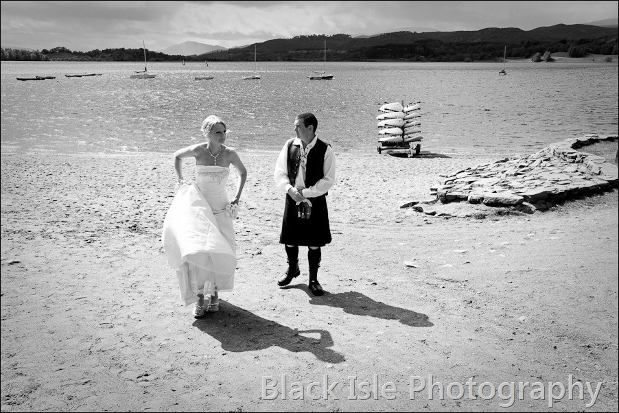 wedding photograph Loch Insh watersports Centre-25