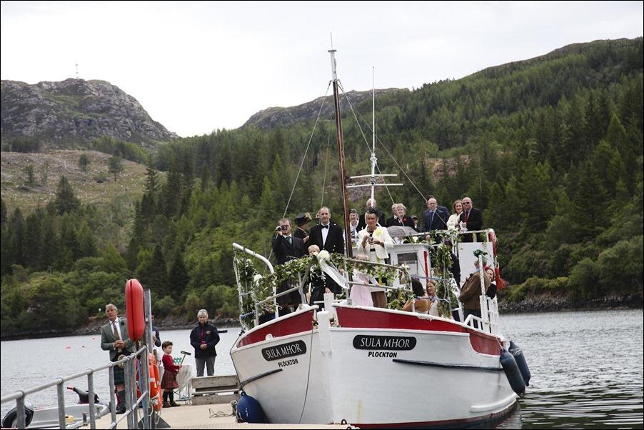wedding photgraphy on the Sula Mhor sailing out of Plockton, Scotland-8207