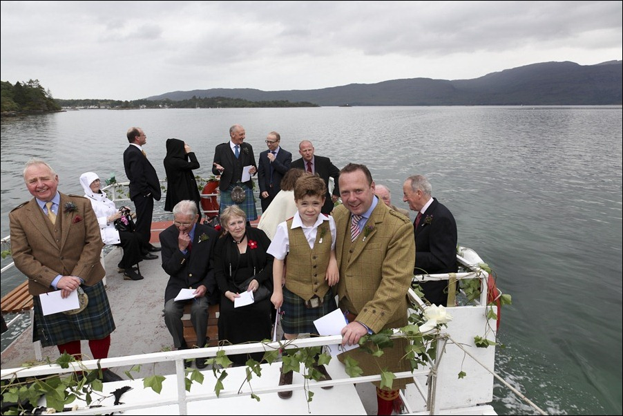 wedding photgraphy on the Sula Mhor sailing out of Plockton, Scotland-8255