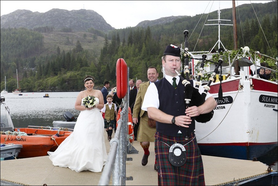 wedding photgraphy on the Sula Mhor sailing out of Plockton, Scotland-8420