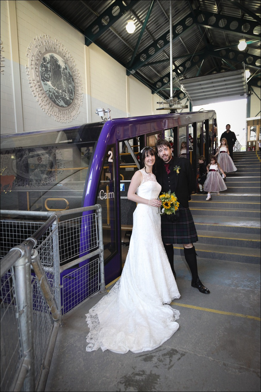 Wedding photograph at Cairngorm Mountain