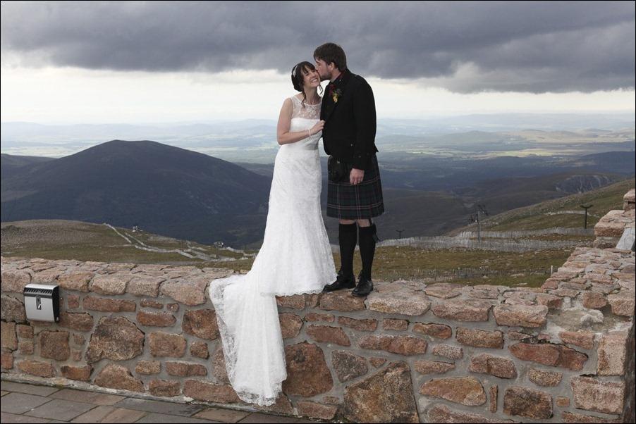 Wedding photograph at Cairngorm Mountain