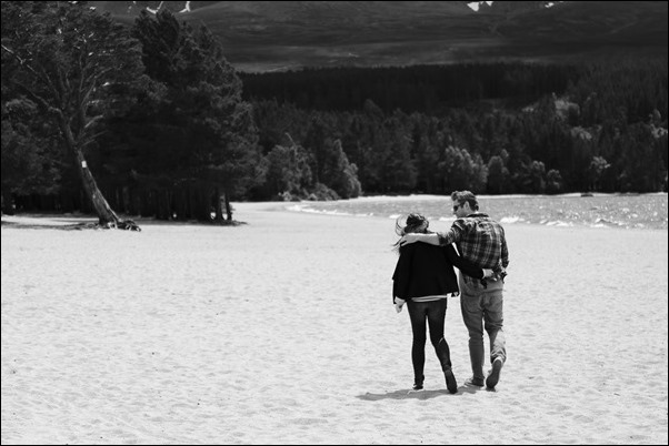 Engagement portraits at Loch Morlich, Aviemore-1516