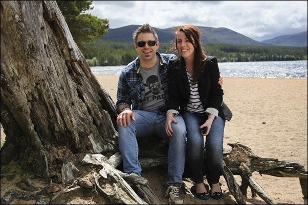 Engagement portraits at Loch Morlich, Aviemore-1533