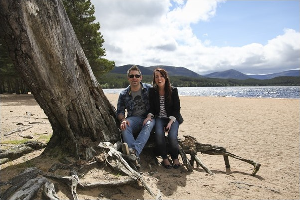 Engagement portraits at Loch Morlich, Aviemore-1538
