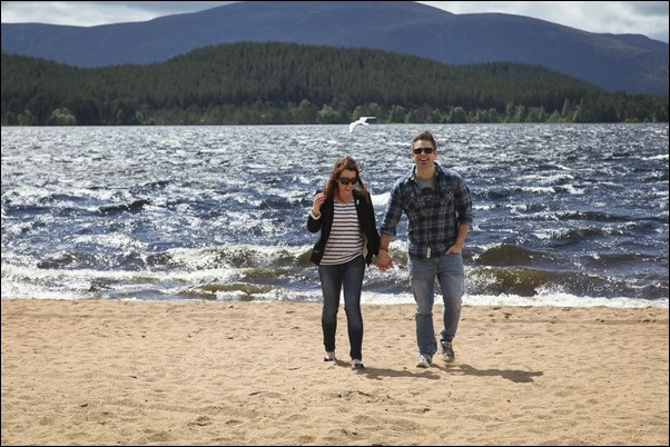 Engagement portraits at Loch Morlich, Aviemore-1574
