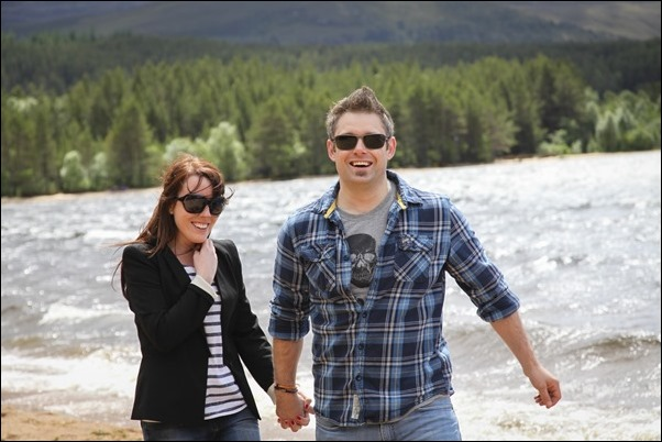 Engagement portraits at Loch Morlich, Aviemore-1604